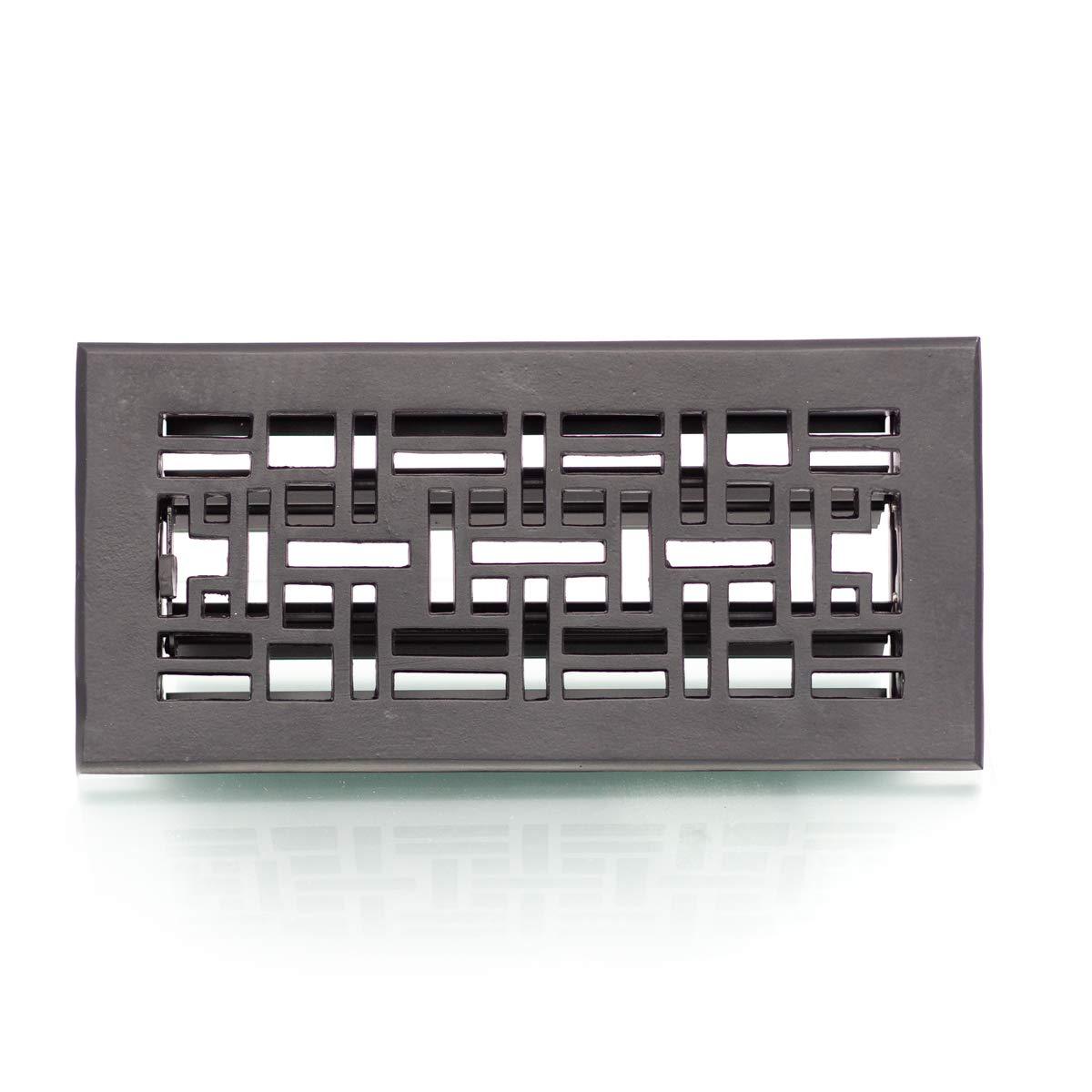 Antikas - Rejilla de ventilació n en negro, rejilla de aire para horno, rejilla de chimenea regulable