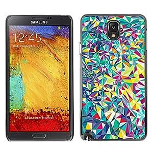 X-ray Impreso colorido protector duro espalda Funda piel de Shell para SAMSUNG Galaxy Note 3 III / N9000 / N9005 - Lines Android Psychedelic
