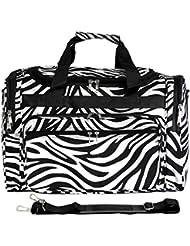 World Traveler Zebra 22-Inch Travel Duffle Bag, Black Trim Zebra