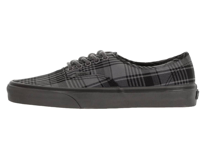 Amazon.com | Vans Unisex Authentic (Plaid Overdyed) Pewter/Black Skate Shoe  10.5 Men US / 12 Women US | Fashion Sneakers