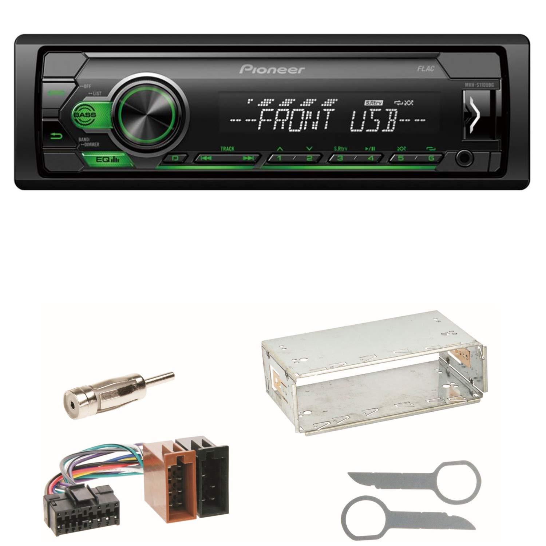 Pioneer MVH-S110UBG USB AUX MP3 Autoradio Einbauset f/ür Mercedes SLK R170 W208 W210