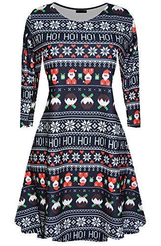 For G and PL Women Christmas Long Sleeve Dress Ho Ho -
