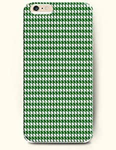 HOUNDSTOOTH- SevenArc Case for Apple iPhone 6 Plus (5.5inch) - Green White Classic Houndstooth