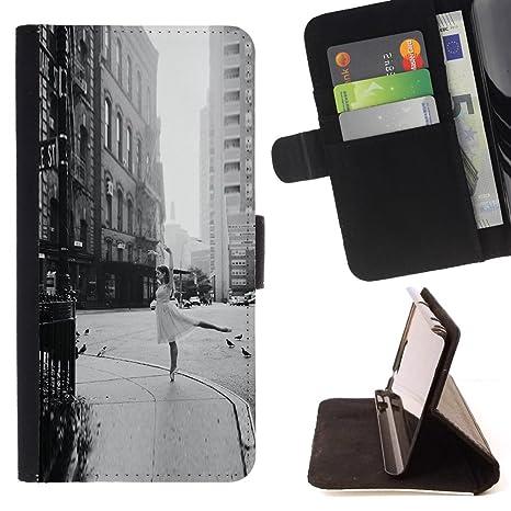 For HTC DESIRE 816 Case , Calle bailarina Vintage Negro ...