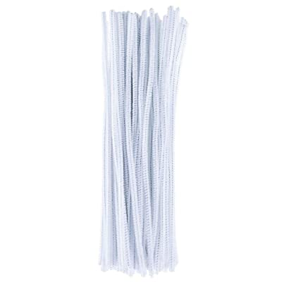 100 Pieces Pipe Cleaners Art Crafts Chenille Stems 6mmx30cm for Christmas DIY Art Craft Projects Decoration Supplies: Arts, Crafts & Sewing
