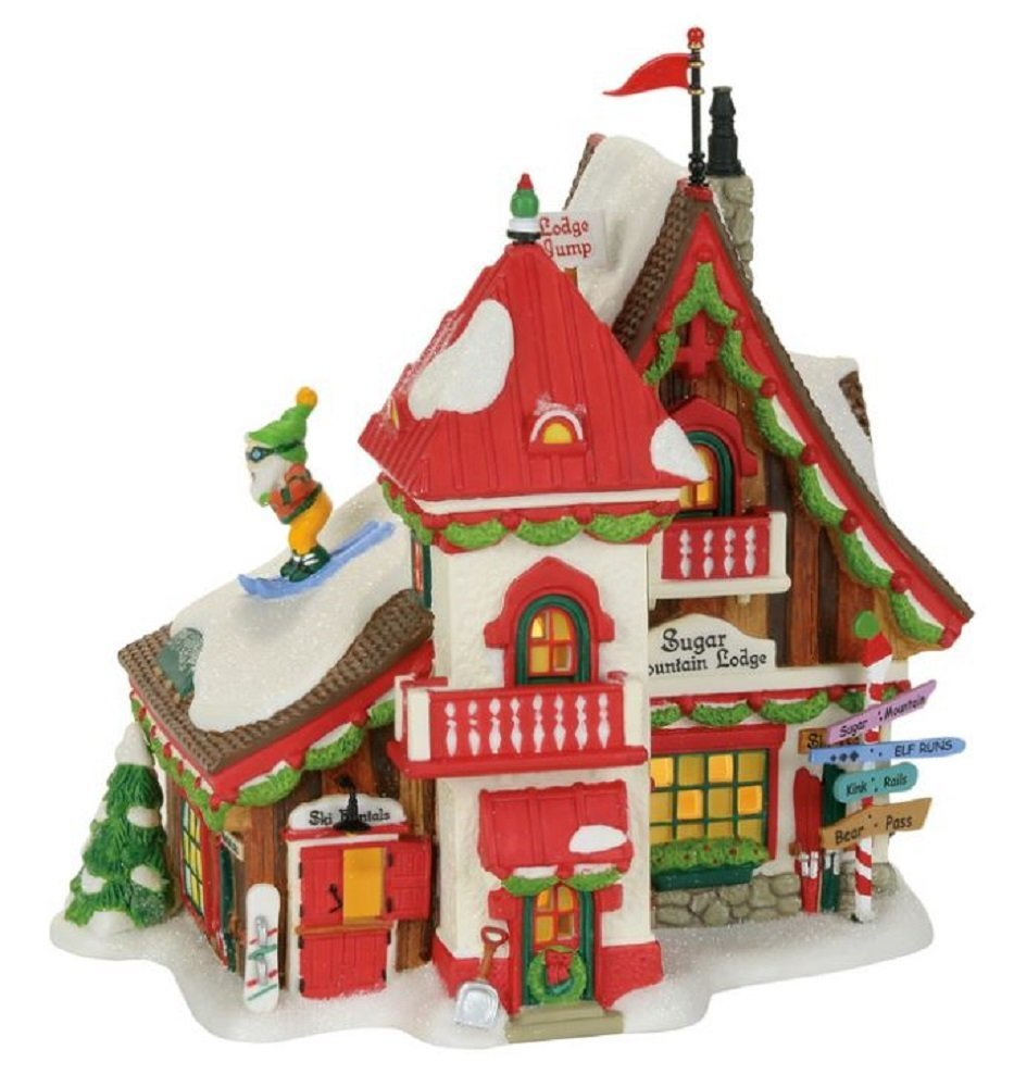 Department 56 North Pole Village Sugar Mountain Lodge Lit Building, Multicolored by Department 56