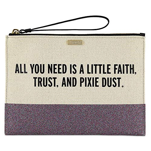 Peter Pan ''All You Need is a Little Faith, Trust, and Pixie Dust'' Canvas Glitter Clutch by kate spade new york