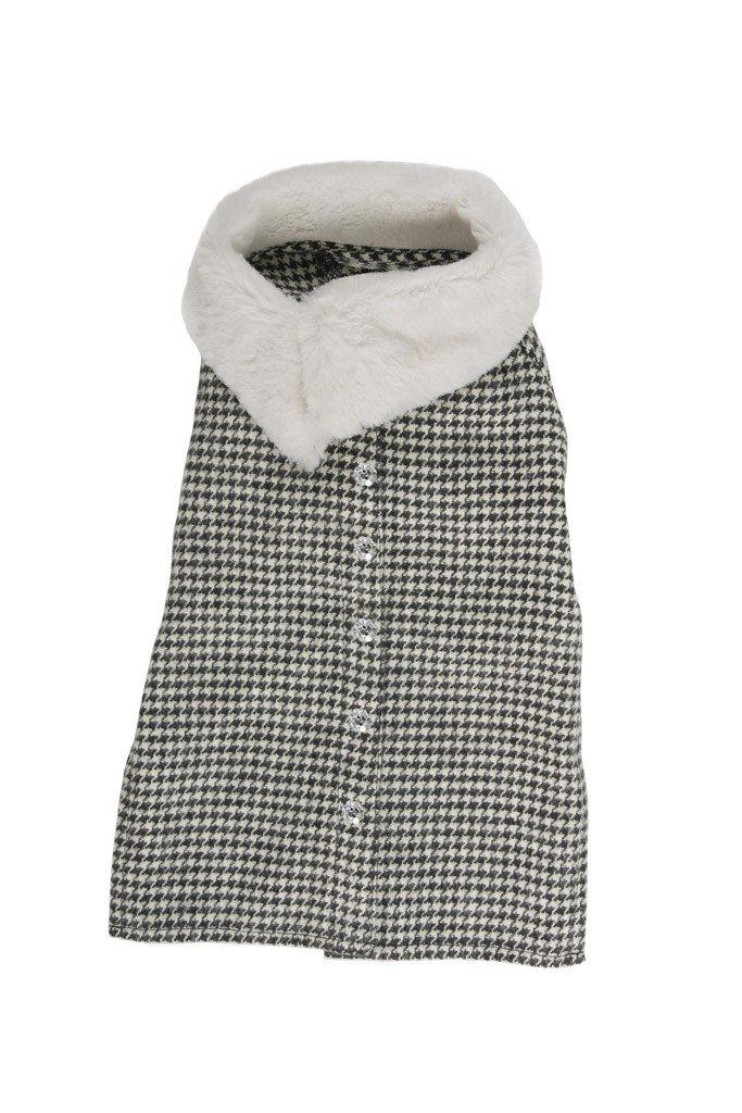 50 cm Farm Company Houndstooth Furred Neck Coat, 50 cm