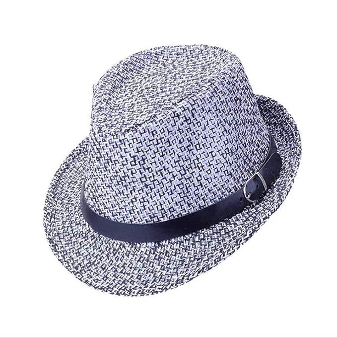 Huateng Sombrero Fedora para Hombre Sombrero De Licuadora De ...