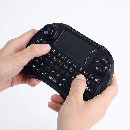 3 opinioni per mini tastiera wireless con mouse touchpad, OXOQO 2.4GHz USB ricaricabile