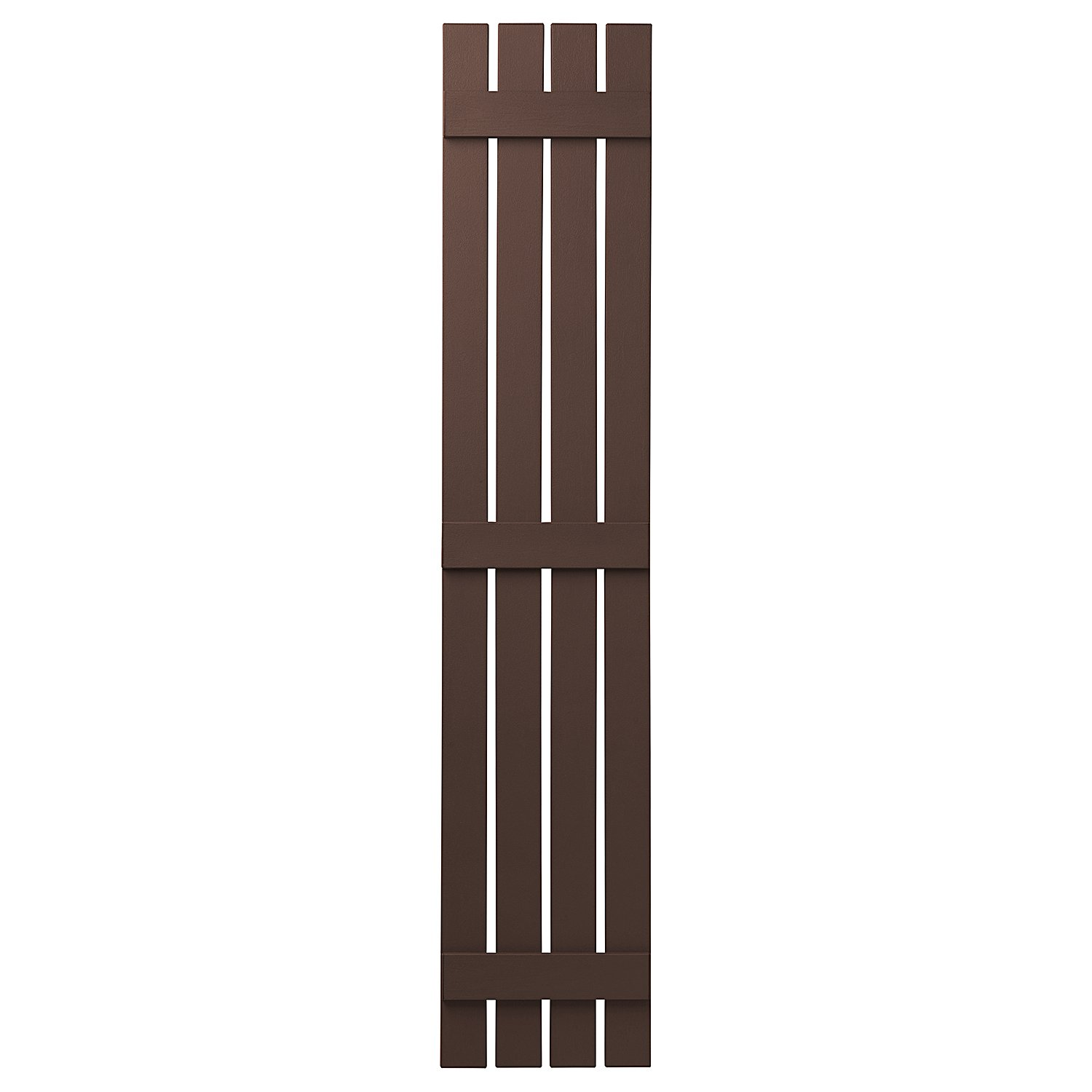 PlyGem Shutters and Accents VIN401681 SL 4 Open Board and Batten Shutter, Terra Brown by PlyGem Shutters and Accents (Image #1)