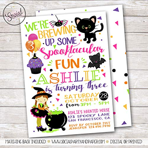 HALLOWEEN WITCH GIRL BIRTHDAY PARTY -
