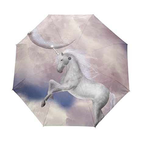 COOSUN Unicornio automático 3 plegable del paraguas del parasol Color # 001