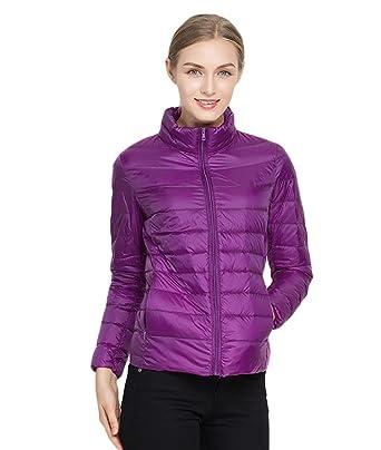 chengyang chaquetas de pluma cortas abrigos manga larga de invierno con cremallera cazadora deportiva para mujer