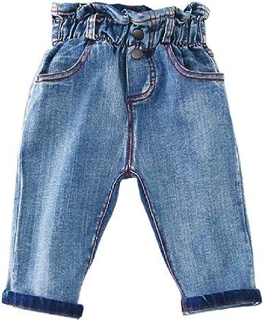 Nobrand Jeans Para Ninos Pantalones Para Ninas Jeans Para Ninas De Moda Bebes Ninas Otono Ropa Para Ninos Pantalones Vaqueros Con Cintura Alta Amazon Es Ropa Y Accesorios