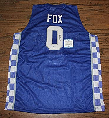 De'aaron Fox Signed Autographed Auto Jersey Bas Witnessed Kentucky Wildcats - Beckett Authentication