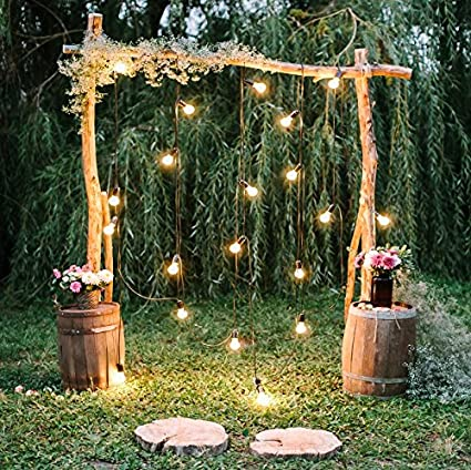 Rustic Wedding Arch.Baocicco 10x10ft Rustic Style Engagement Ceremony Backdrop Stunning Wedding Arch Decorations Twinkle Lights Floral Bouquets Background Wedding Date