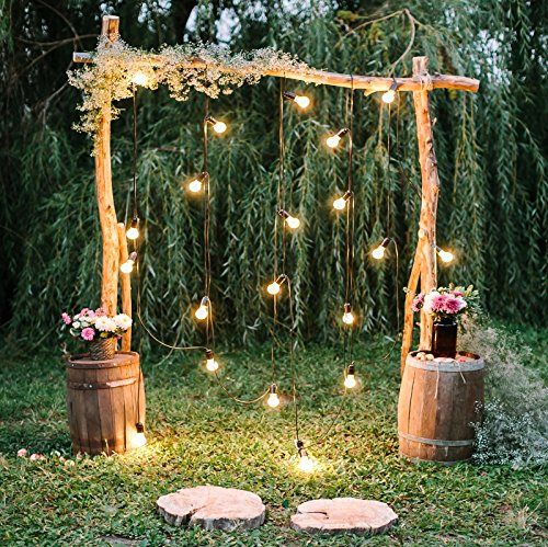 Baocicco 10x10ft Rustic Style Engagement Ceremony Backdrop Stunning Wedding Arch Decorations Twinkle Lights Floral Bouquets Background Wedding Date Valentine's Day Lover Couples Portrait Studio Props -