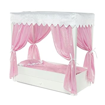 For American Girl Doll Canopy Bed Trundle Storage