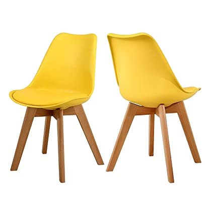 Beau NOBPEINT Eames Style Mid Century Dining Chairs,Set Of 2(Yellow) U2026