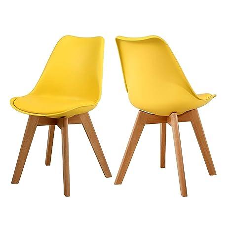 Amazon.com: NOBPEINT Eames-Style Mid Century - Juego de 2 ...