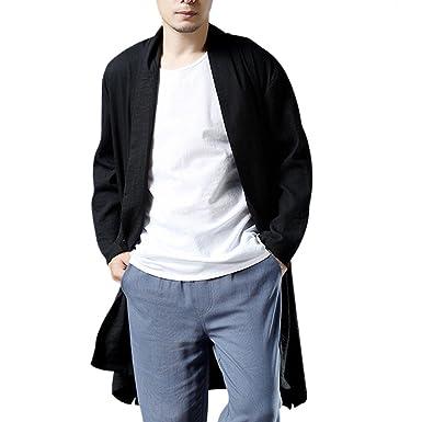Amazon.com: Ai.Moichien - Chaqueta de manga larga negra para ...