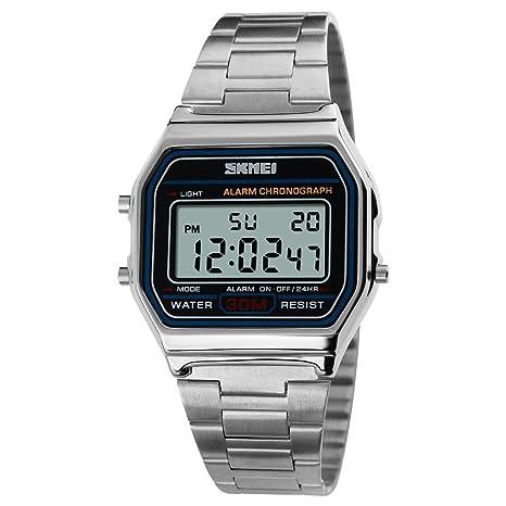 Reloj para hombres, 1123 Reloj analógico digital de cuarzo Reloj clásico casual para hombres Fecha