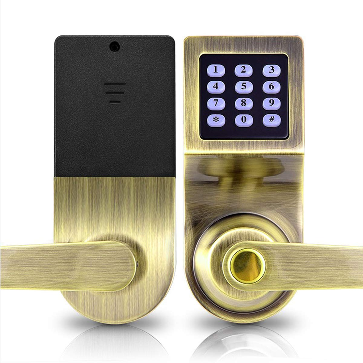 Buy SPOTACT Electronic Induction Smart Password Ball Lock Remote Control Door  Lock Office Hotel Apartment Hotel B&B Travel Home Password Card Lock  (Center Column 60mm, Green Patina) Online at Low Prices in