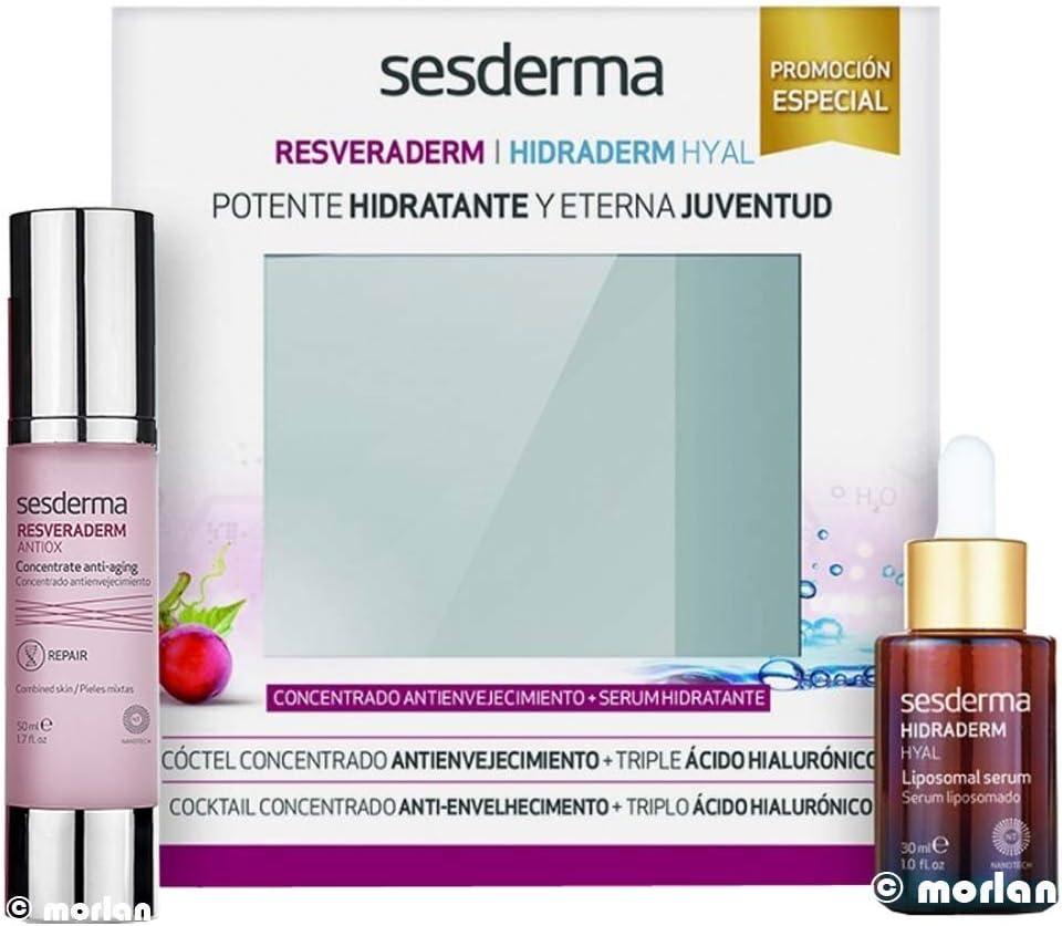 SESDERMA PACK RESVERADERM ANTIOX+HIDRADERM HYAL: Amazon.es: Belleza
