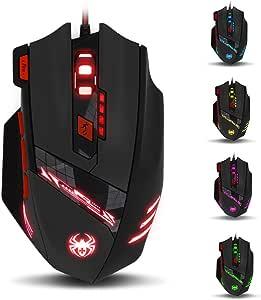 zelotes T90 Ratón Gaming 1000 a 9200 dpi, 8 Botones y 6