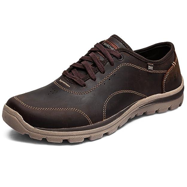 Skechers Segment- AMSON - Zapatillas para Hombre, Color Marrón, Talla 47.5