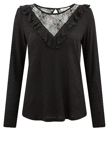 ca1c345103c92 Promod Top détail Dentelle Femme: Amazon.fr: Vêtements et accessoires