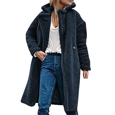 Rovinci☆ Abrigos Mujer Invierno Cálido Casual Color sólido Elegante Parka Chaqueta Sólido Outwear Abrigo Prendas de Abrigo: Amazon.es: Ropa y accesorios