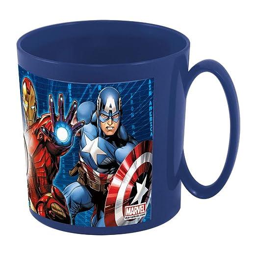 Los Vengadores (Avengers)) Los Taza plastico microondas 36 cl (STOR 53104), Azul, 11x8.3x8.7 cm