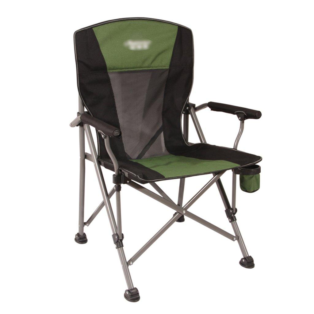 ZGL 旅行椅子 屋外折りたたみチェアポータブルビーチカジュアルチェア折りたたみ釣り用スツール背もたれ椅子屋外椅子の色オプション ( 色 : 緑 ) B07C7DP2X3 緑 緑