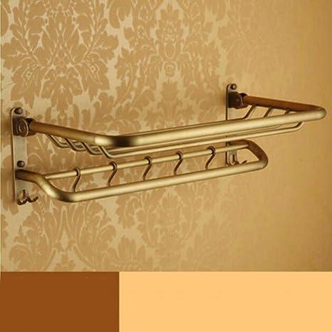 Sursy Todo el cobre antiguo estilo europeo, toallas, toallas de baño plegable, Toalla