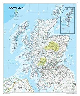 National Geographic: Scotland Classic Wall Map 30 X 36 Inches ...