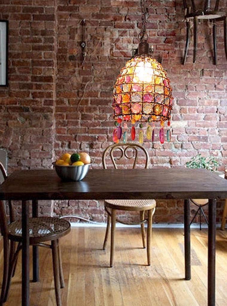 Retro Marokkanische Orientalische Hängende Deckenleuchte E14 Eisen Und Acryl Design Für Kissen Restaurant Schlafzimmer Retro-Stil/B M