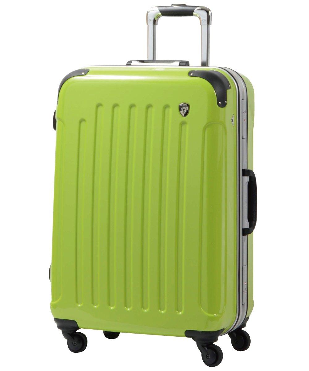 [グリフィンランド]_Griffinland TSAロック搭載 スーツケース 軽量 アルミフレーム ミラー加工 newPC7000 フレーム開閉式 B078JNGK4H S(小)型+【名前刻印】|マスカットグリーン マスカットグリーン S(小)型+【名前刻印】
