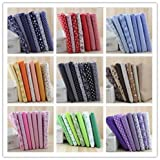 New 63 pcs Thin Cotton Fabric 10'' inch Squares Sewing Quilting Craft Red Blue Black 9 Color Series Patchwork