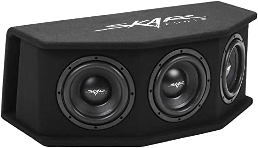 "Skar Audio SDR-3X8D2 Triple 8"" 2,100 Watt Loaded SDR Series Vented Subwoofer Enclosure, Triple 8"" D2 Loaded Enclosure"