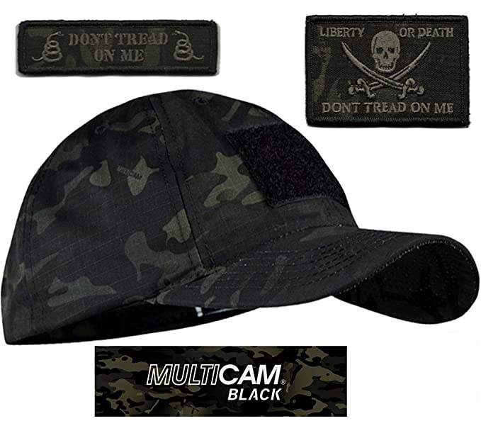 Condor MULTICAM-BLACK Tactical Patch   Hat Bundle (Calico Jack DTOM patches) f86c5f5448f