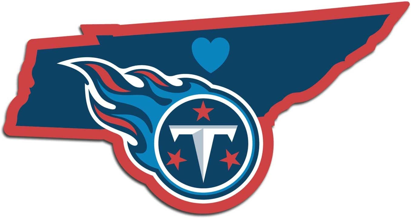 NFL Siskiyou Sports Fan Shop Tennessee Titans Home State Decal One Size Team Color