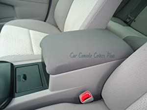 Car Console Covers Plus Made in USA Neoprene Center Armrest Console Cover Designed to fit Lexus RX350 Luxury Models 2010-2012 Gray