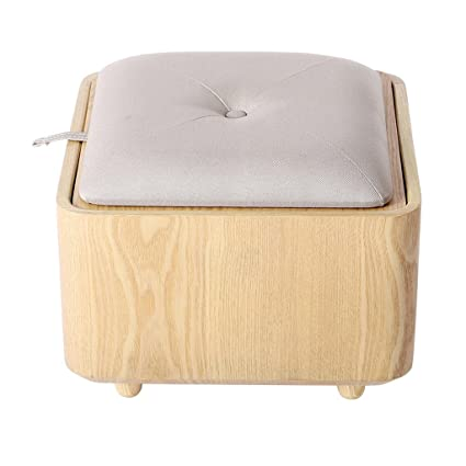 Exceptionnel Multifunctional Stool | Small Table Storage Ottoman Box Footstool Wooden  Change Shoe Stool Upholstered Footrest Linen