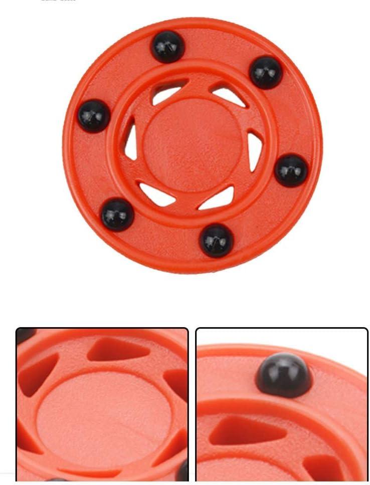 SparY Roller Hockey Rondelle Haute Densit/é Durable Rond Parfaitement Balance Anti Rouleau Orange Roues ABS Accessoires Professionnelle Balle DEntra/înement pour Glace Roues Align/ées Rue