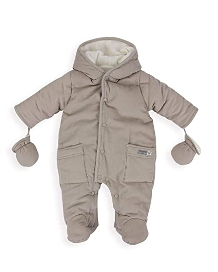 09fc9d4f9 The Essential One - Baby Unisex Cosy Corduroy Pramsuit - Grey ...