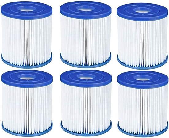 NJYBF Cartuchos de filtro para piscina Bestway I Filtros de piscina, repuesto para spa, filtro de limpieza de piscina, accesorios de filtro de cartucho de papel (6 unidades)