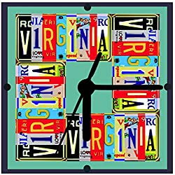 License Plate Clock, All States Available, From Original Art, 2 Sizes, Desk Clock, Wall Clock, Includes Stand, Gift Boxed, Free Shipping