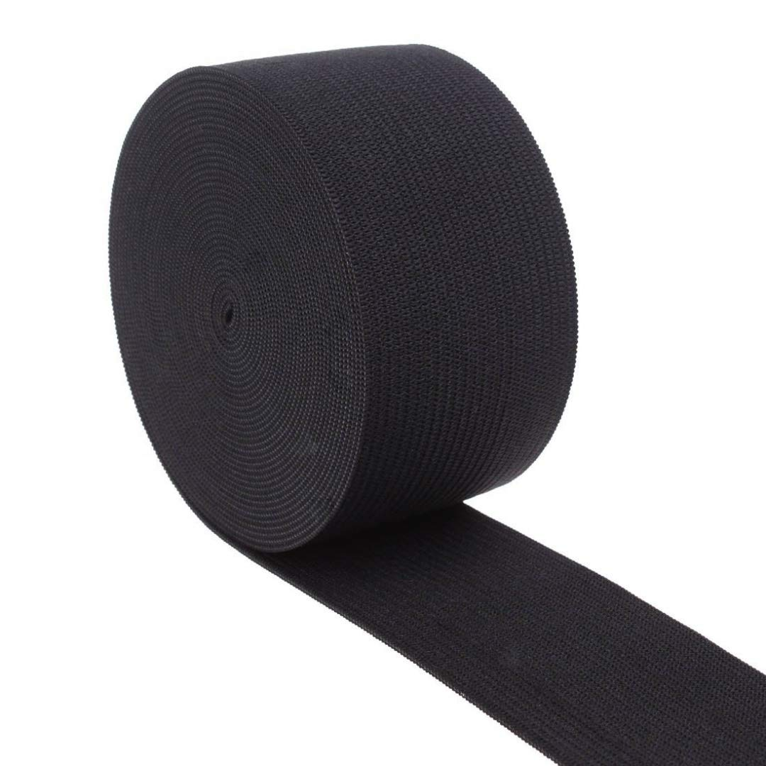 Cotowin 1.5 Inch Wide Black Knit Heavy Stretch High Elasticity Elastic Band 5 Yards by Cotowin BCAC16947